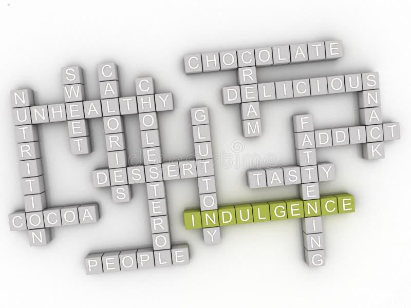 concept de nuage de mot de l'indulgence 3d illustration libre de droits