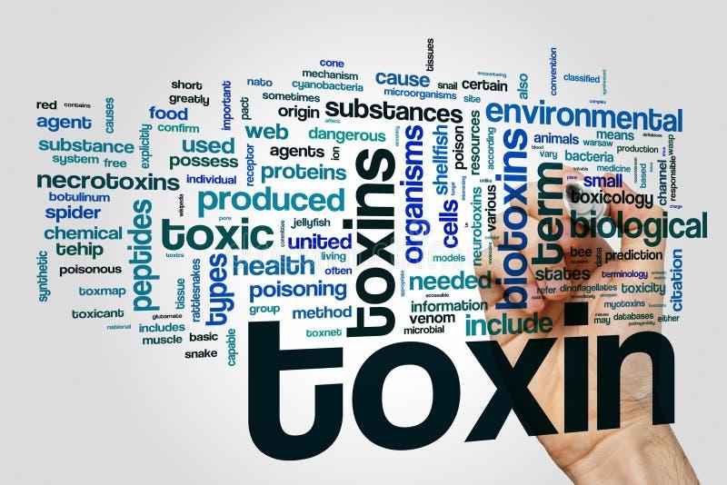 Concept de nuage de mot de toxine photo libre de droits