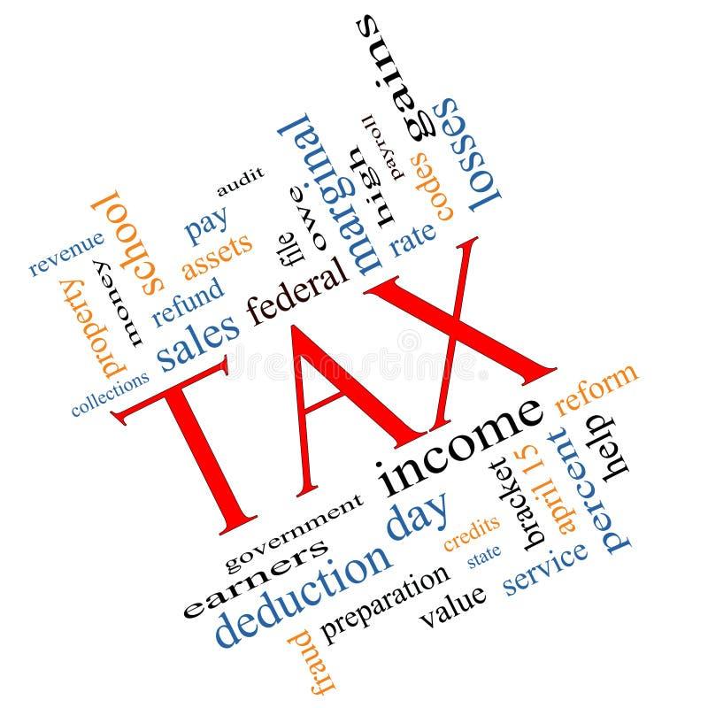 Concept de nuage de Word d'impôts pêché illustration stock