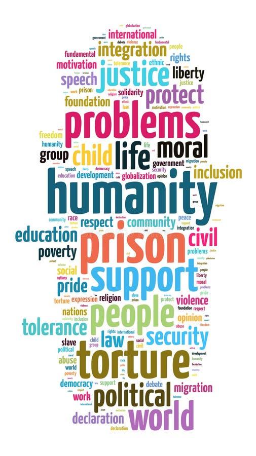 Concept de nuage de mot d'humanité illustration libre de droits