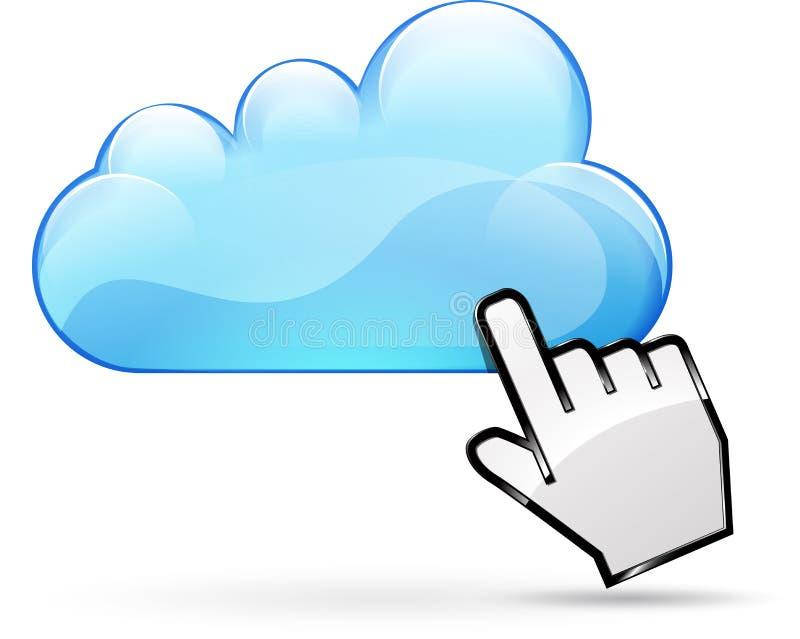Concept de nuage de Web illustration stock
