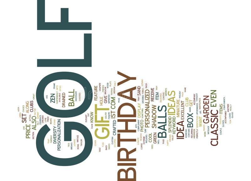 Concept de nuage de Word de cadeau d'anniversaire de golf illustration libre de droits