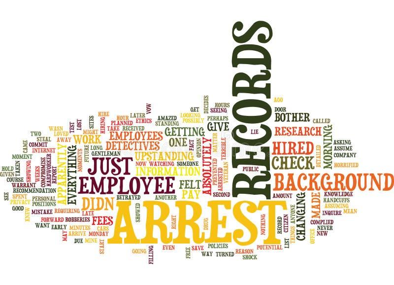 Concept de nuage de Word de disques d'arrestation illustration libre de droits