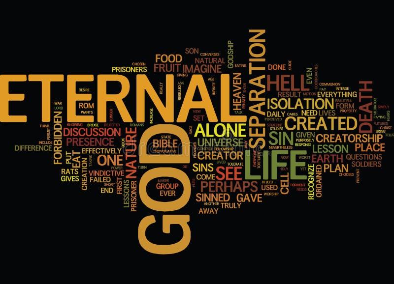 Concept de nuage de Word de fond des textes de leçon de série de la vie éternelle illustration stock
