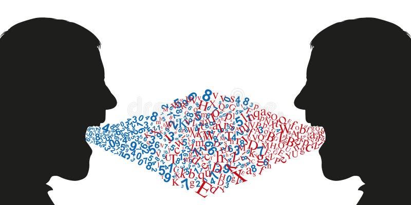 Concept de oppositie tussen de literaire geest en de wiskundige mening vector illustratie