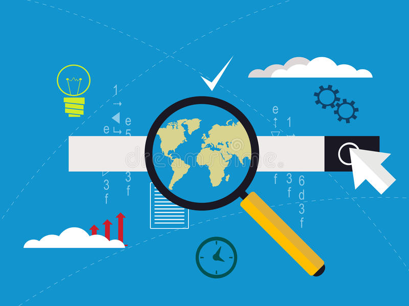 Concept de optimalisering van de websitecode en Web programmeringsproces stock illustratie
