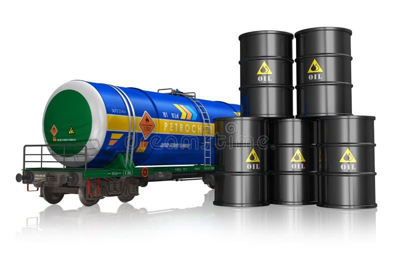 Concept de pétrole et d'industrie du gaz illustration stock