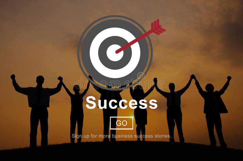 Concept de page d'accueil de motivation de mission de succès photos libres de droits
