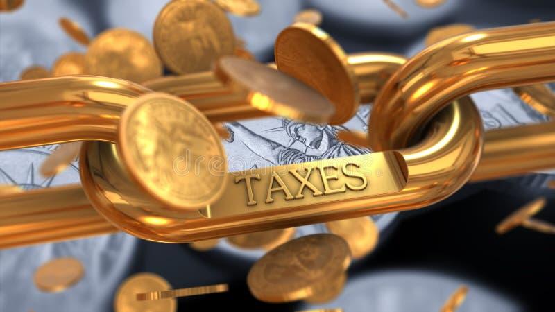 Concept de paiement d'impôts photos libres de droits