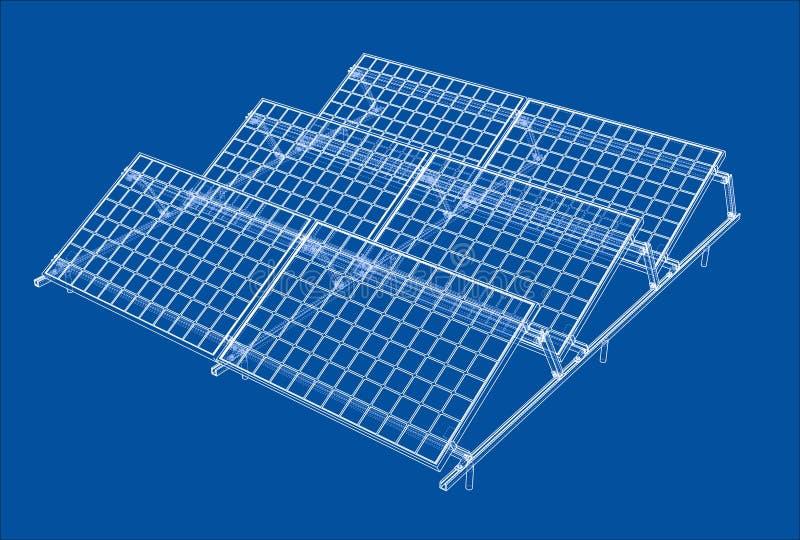 Concept de panneau solaire illustration stock