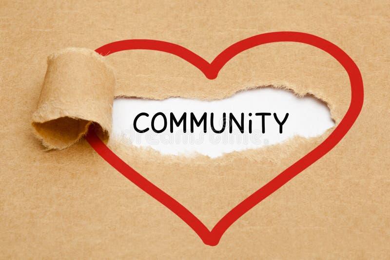 Concept de papier de coeur déchiré par Communauté image libre de droits
