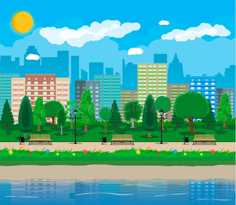 Concept de parc de ville illustration stock