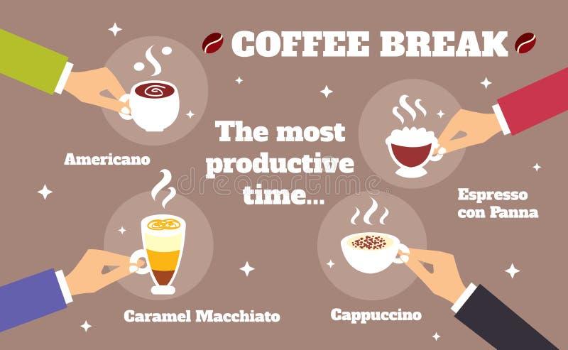 Concept de pause-café illustration libre de droits