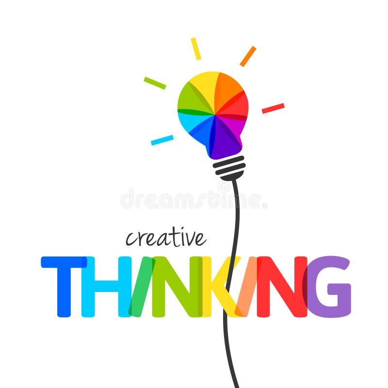 Concept de pensée créative illustration libre de droits