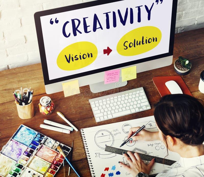 Concept de pensée d'imagination de vision de créativité photo stock