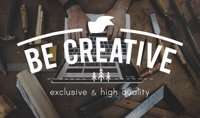 Concept de pensée de style d'inspiration d'Imanigation de créativité photos stock