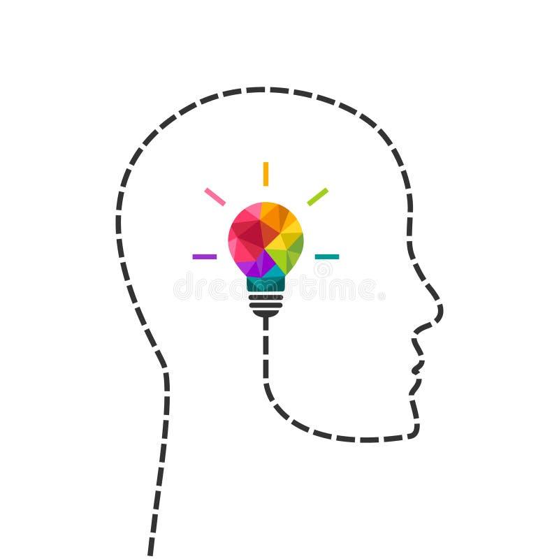 Concept de pensée et de étude créatif illustration stock