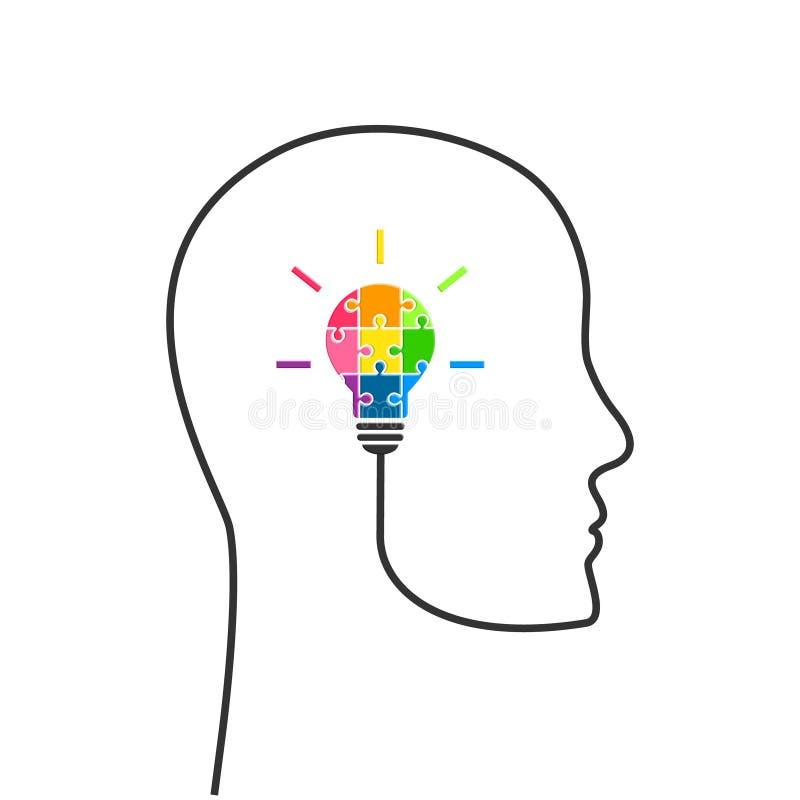 Concept de pensée et de planification stratégique stratégique illustration de vecteur