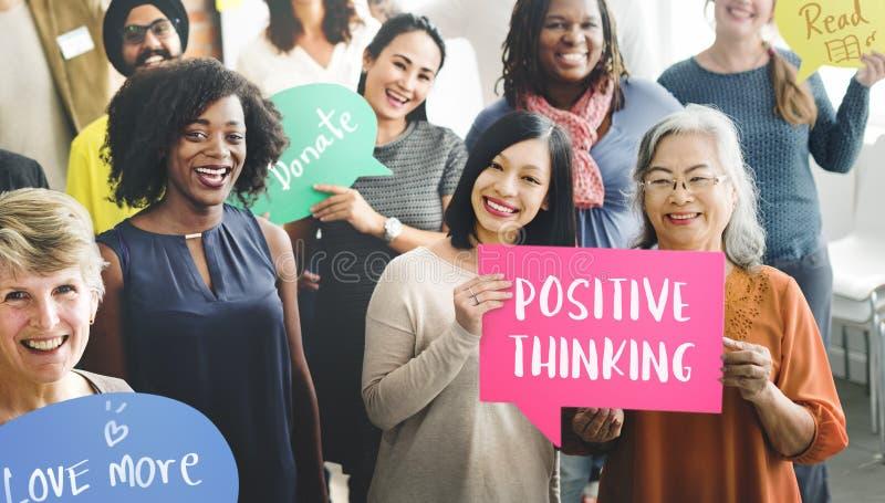 Concept de pensée positif de bien-être de mentalité photo libre de droits