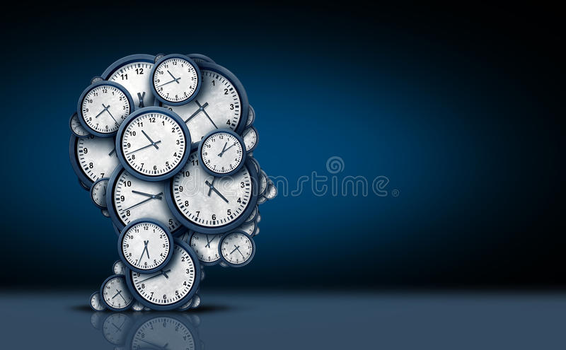 Concept de pensée de temps illustration de vecteur