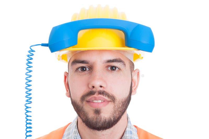 Concept de personne de contact pour l'entreprise de construction image stock