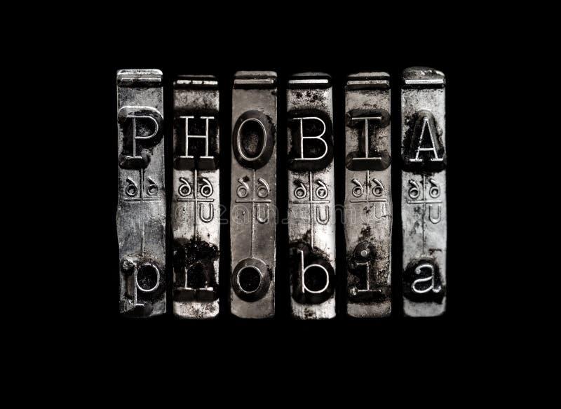 Concept de phobie image stock