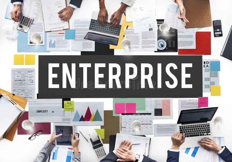 Concept de plan de concession d'Enterprise Campaign Company photographie stock libre de droits