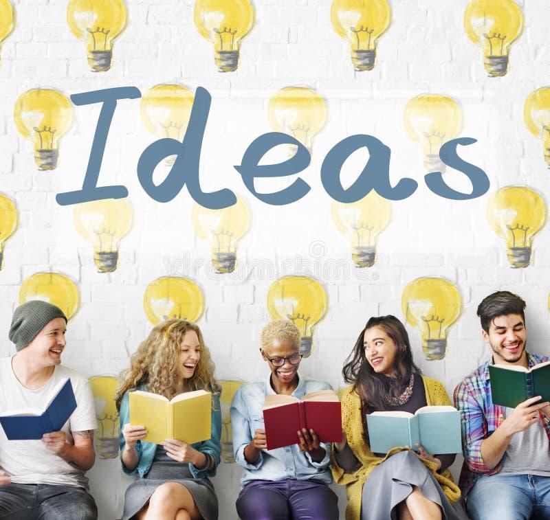 Concept de plan de pensées de la tactique d'innovation d'idées photo libre de droits