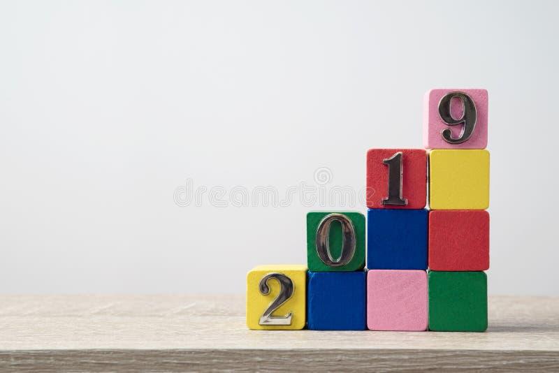 concept de plan de la nouvelle année 2019 images stock