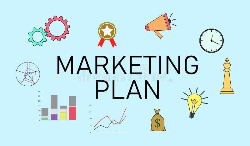 Concept de plan marketing illustration stock