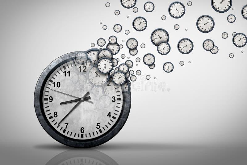 Concept de plan de temps d'affaires illustration stock