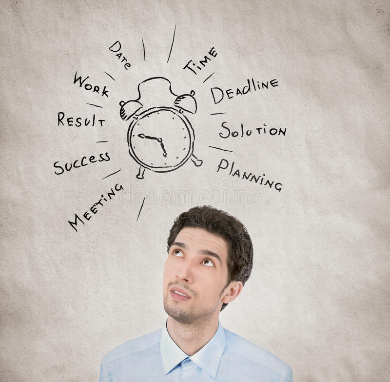 Concept de planification de Business Day photos libres de droits