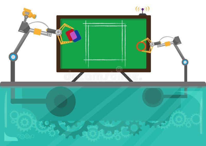 Concept de planification des affaires, d'éducation ou de collaboration Clipart (images graphiques) Editable illustration de vecteur