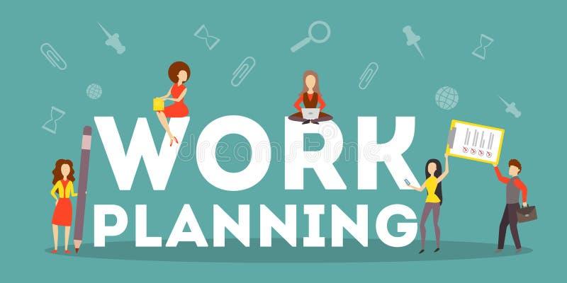 Concept de planification de travail d'affaires Idée de stratégie illustration libre de droits