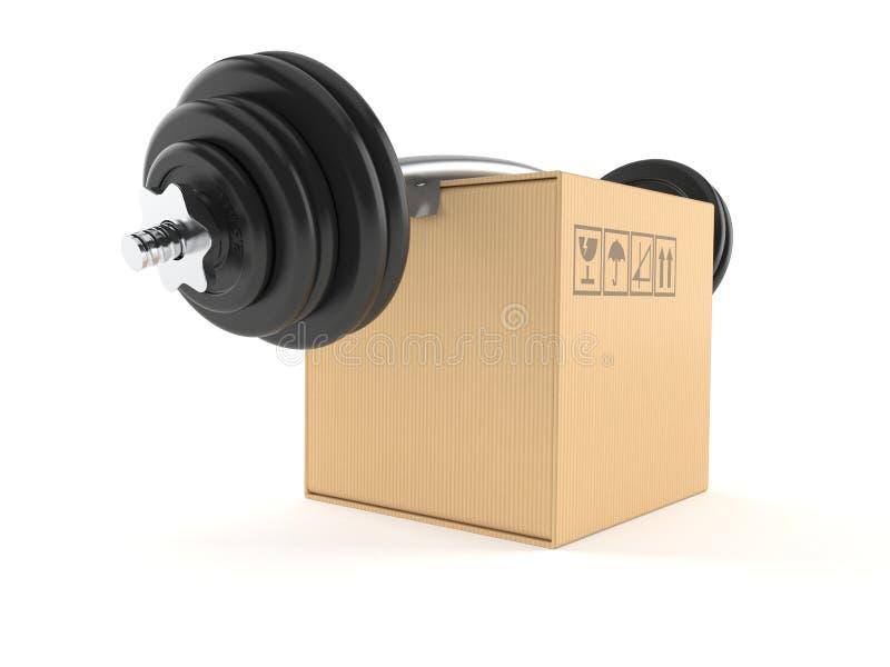 Concept de poids de boîte illustration de vecteur