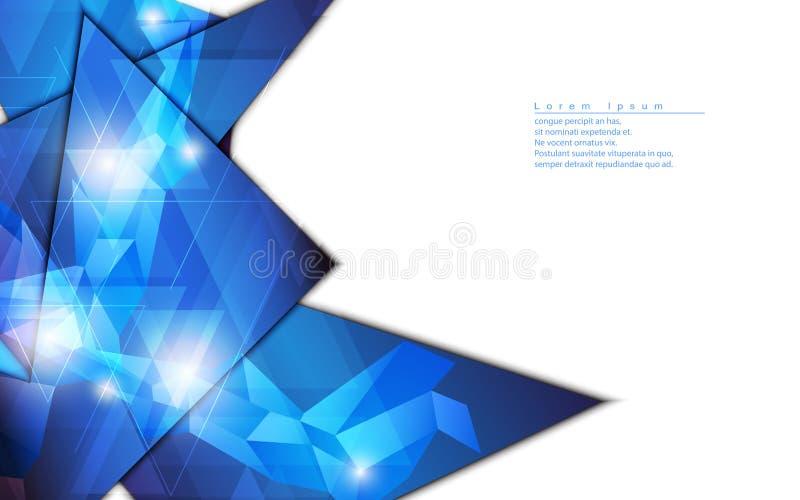 Concept de pointe de fond de vecteur de forme de conception géométrique abstraite de calibre illustration de vecteur