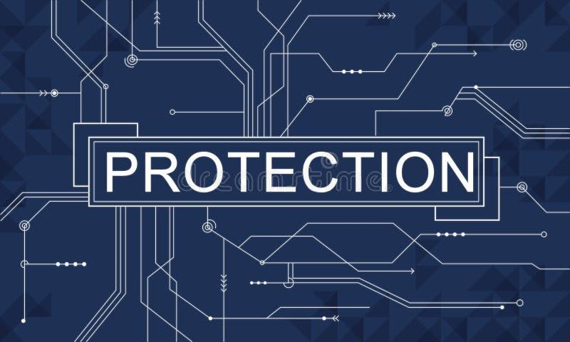 Concept de politique de confidentialité de sécurité de surveillance de protection illustration libre de droits