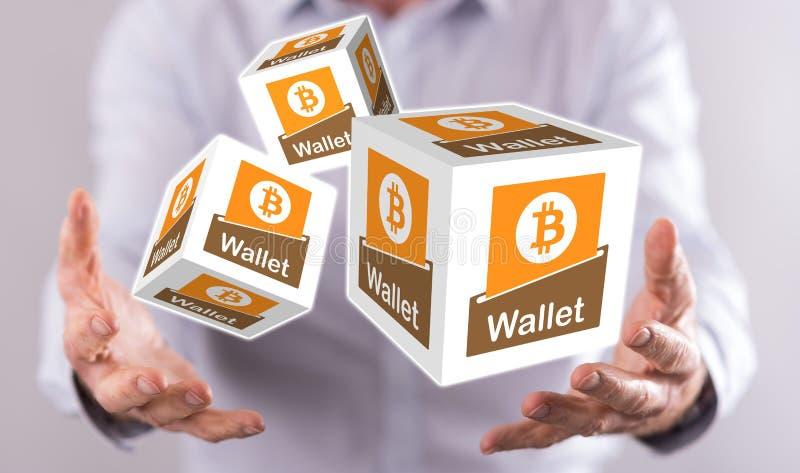 Concept de portefeuille de bitcoin photo libre de droits