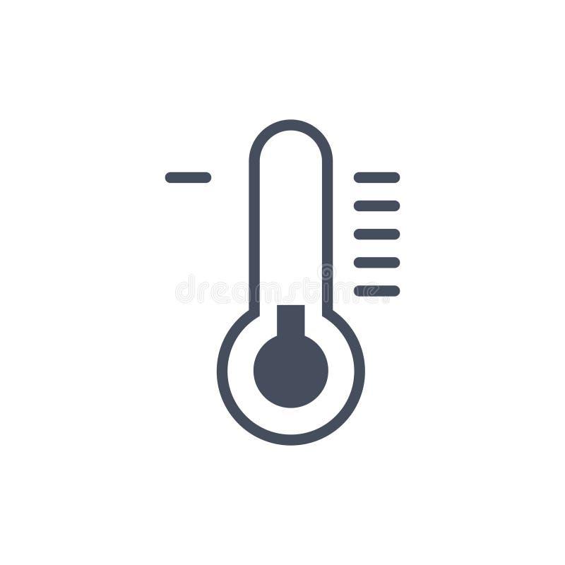 Concept de prévision de climat d'icône de temps de basse température illustration stock