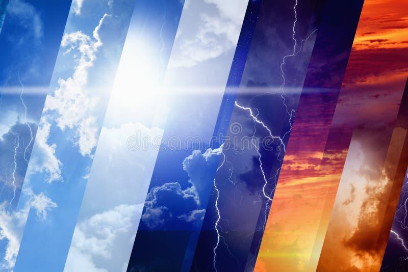 Concept de prévisions météorologiques photos stock