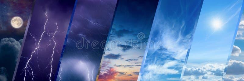 Concept de prévisions météorologiques, fond de changement climatique photo libre de droits