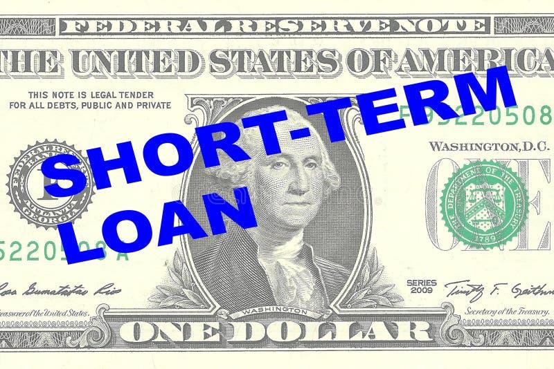 Concept de prêt à court terme illustration de vecteur
