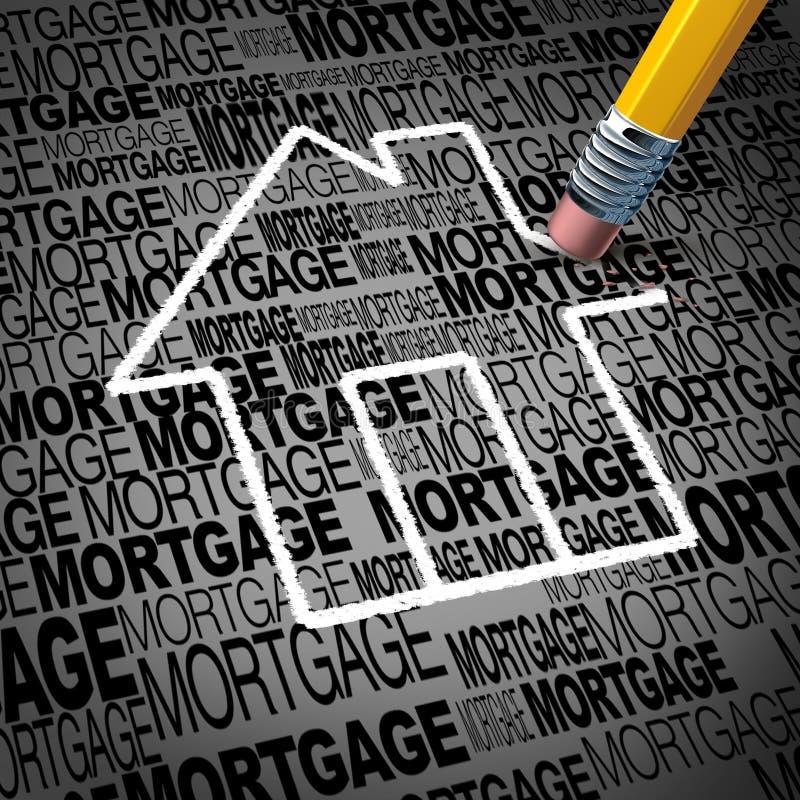 Concept de prêt hypothécaire à l'habitation illustration de vecteur