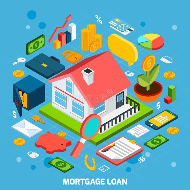 Concept de prêt hypothécaire illustration libre de droits