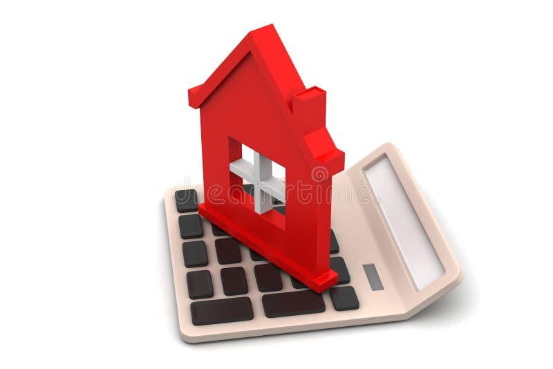 Concept de prêt immobilier illustration de vecteur