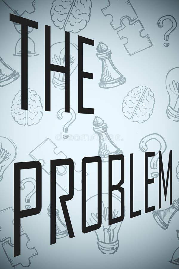 Concept de problème et d'éducation illustration libre de droits