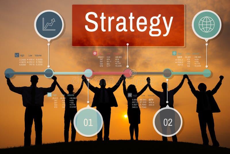 Concept de processus d'affaires globales d'investissement de stratégie images libres de droits
