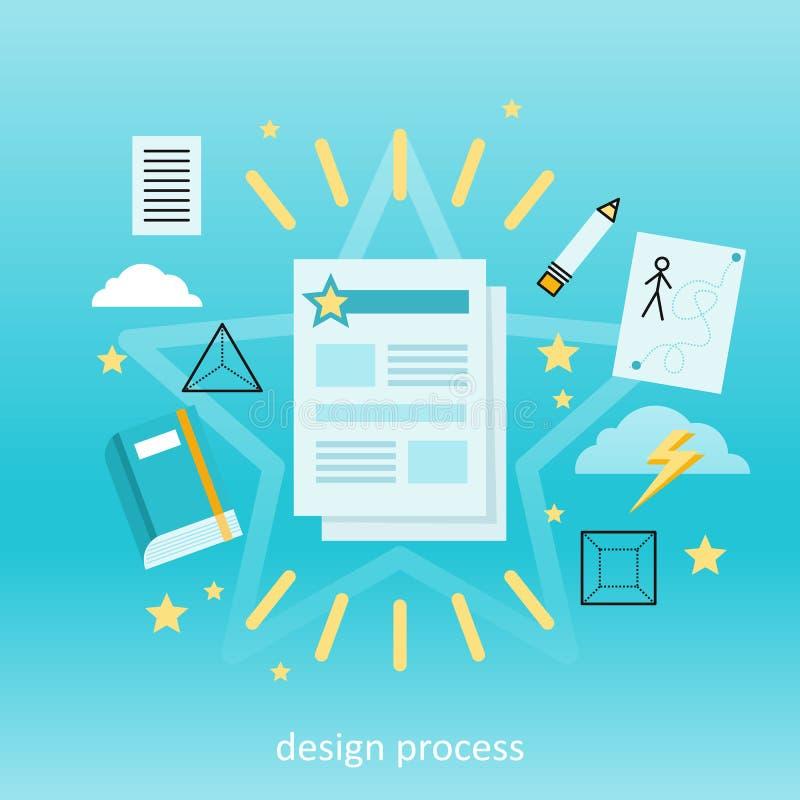 Concept de processus de conception illustration de vecteur