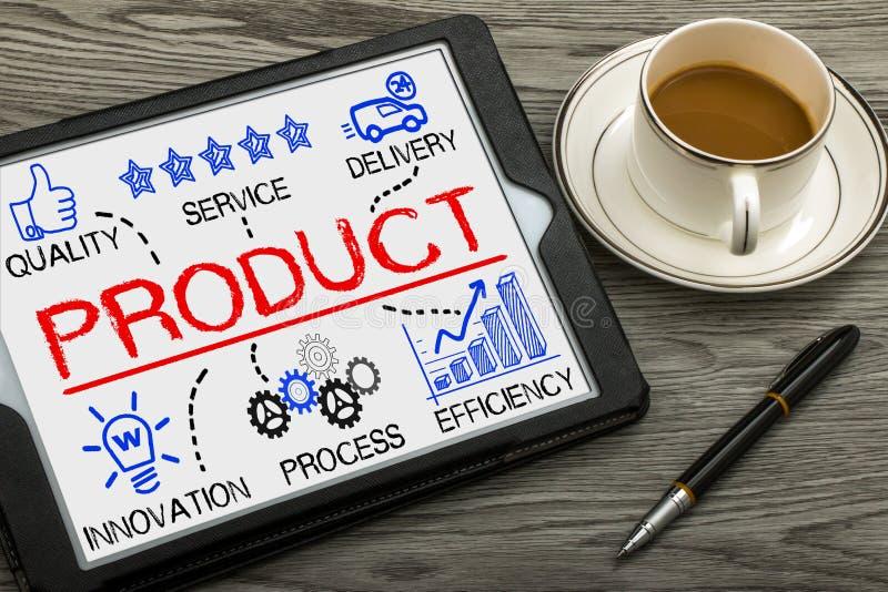 Concept de produit avec des éléments d'affaires photos stock