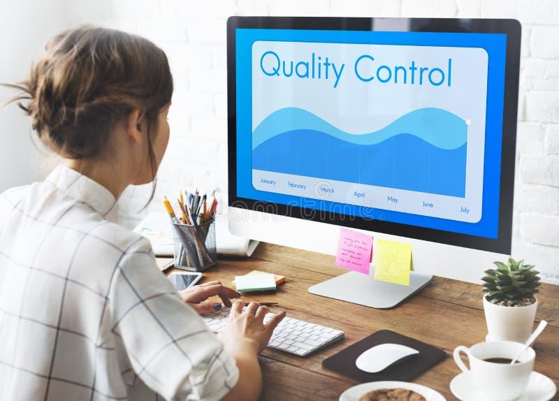 Concept de produit de contrôle de contrôle de qualité photographie stock